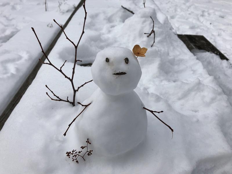 可愛い雪だるまのお出迎え