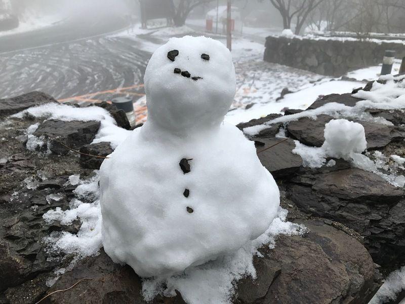 今季初の積雪となりました!