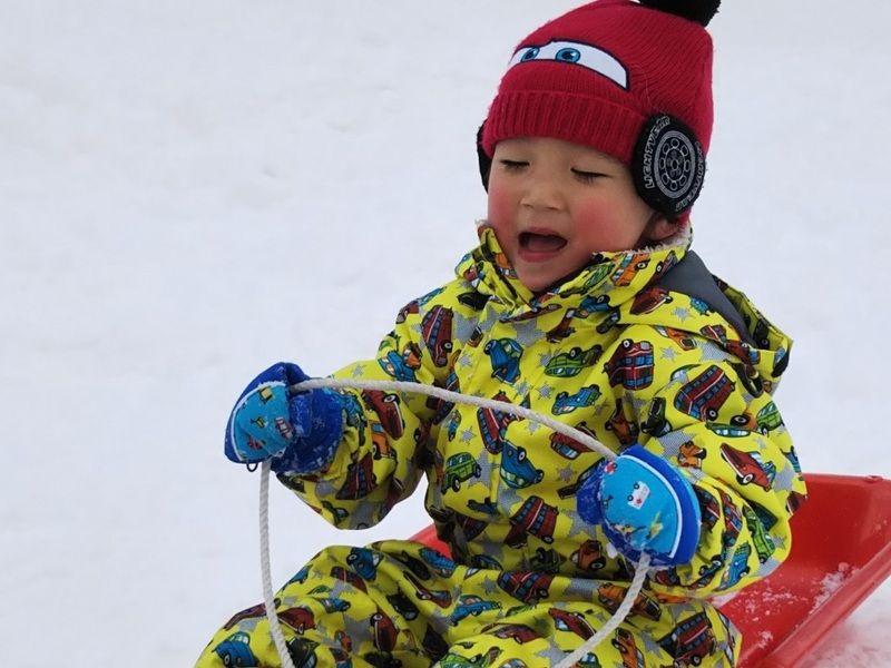 ちびっこ集まれ!雪遊びを楽しもう!