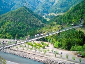 スリル満天!空中散歩!「谷瀬のつり橋」