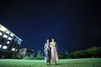 「流れ星みつけた」休暇村では今年も流れ星の数を数えています