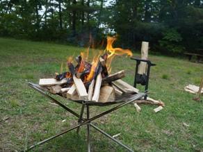 マキ割り体験&焚き火