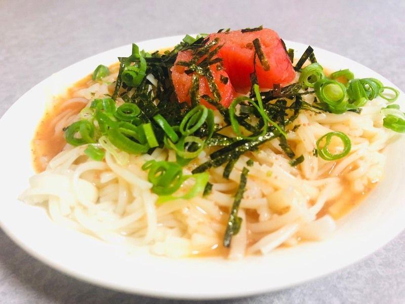 「淡路島素麺ふし麺」 で 冷やし明太子素麺