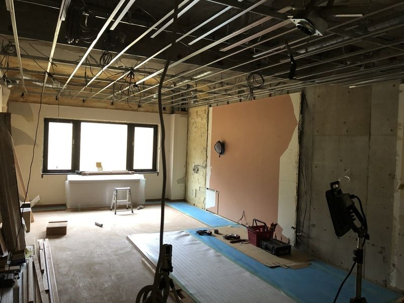 和洋室改修工事中