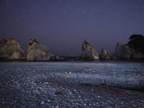 浄土ヶ浜は朝も夜も美しいです! ばえ~
