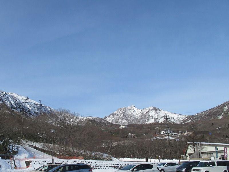 那須の山とスキー場