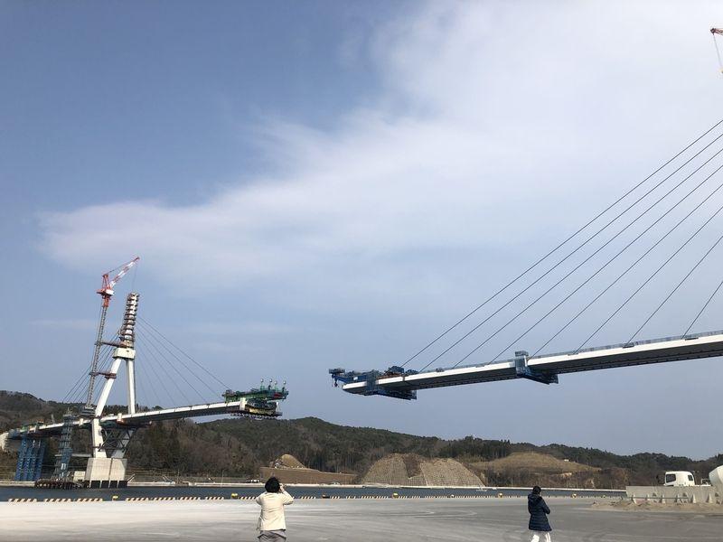 気仙沼湾横断橋完成まであと少し!