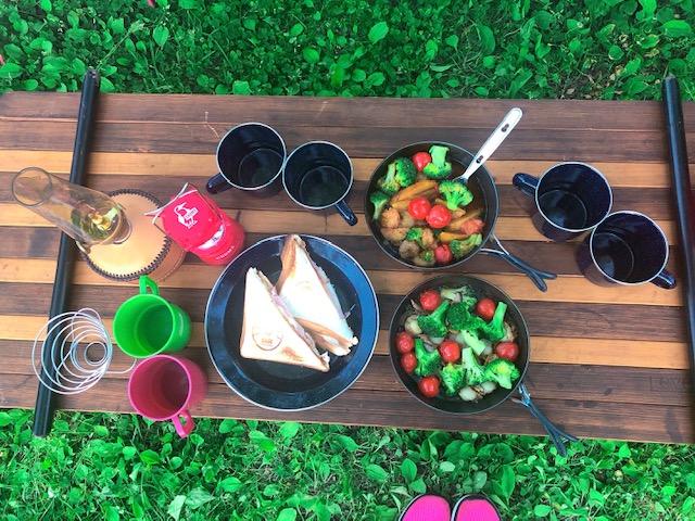 キャンプ場で料理してみました!おか春アクティブ