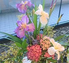 今週のロビーのお花は・・・