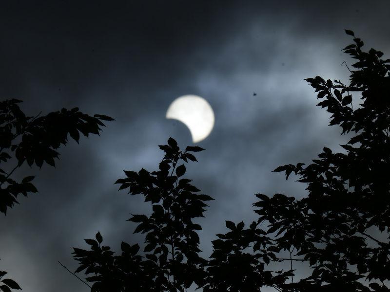 部分日食が見れました。