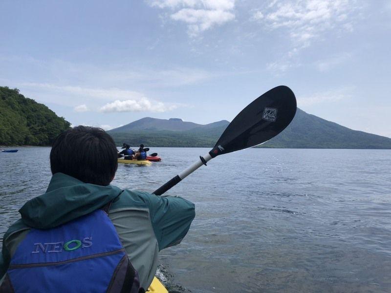 日本一きれいな湖でクリアカヤック体験!