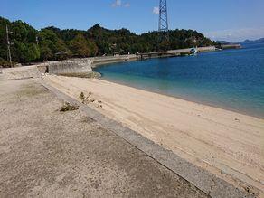 休暇村の海水浴場