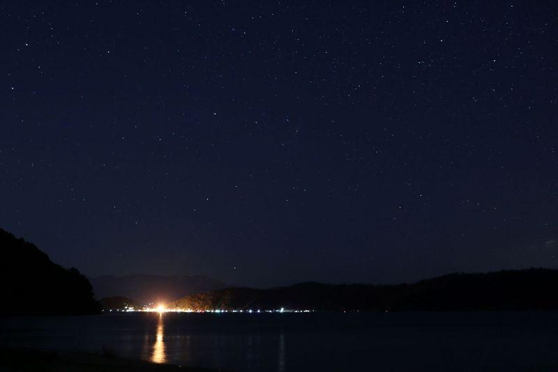 星空観察&たき火