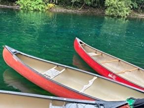 支笏湖でカヌー体験!
