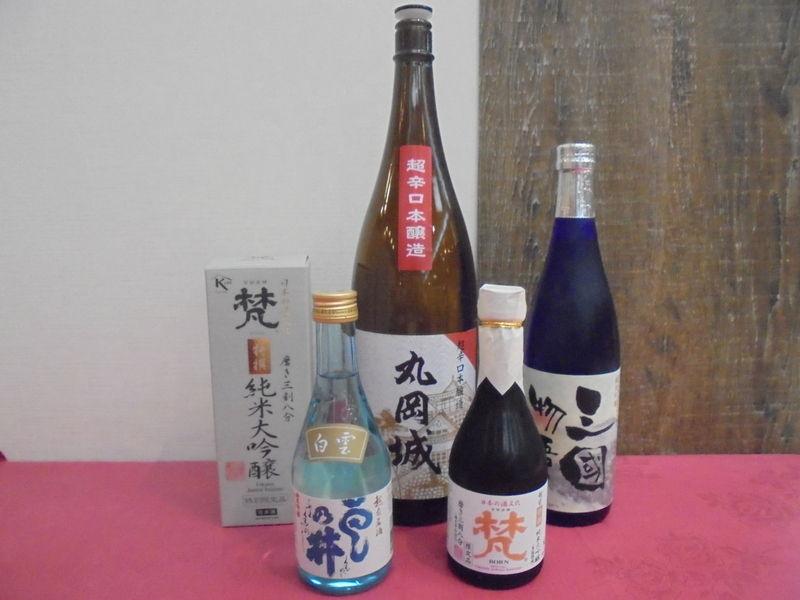 カニと一緒に福井の地酒