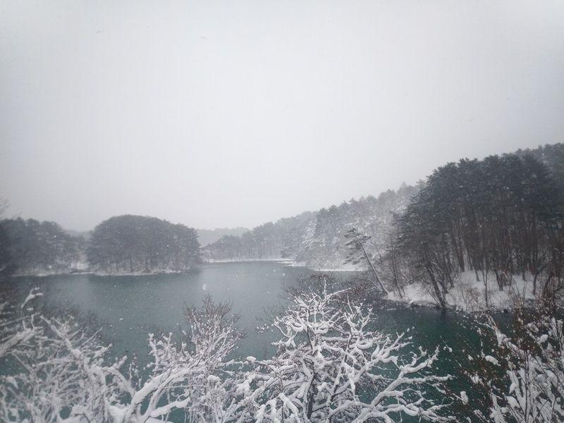 冬の五色沼をスノーシューで散策!!