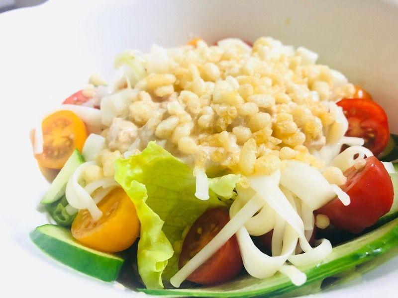 淡路島素麺ふし麺でツナサラダ