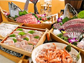 【渥美半島ごちそうビュッフェ】~大人気!地魚のお造り~