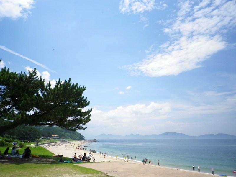 夏はすぐそこに(1)歩いて1分。海水浴場がすぐ目の前です♪