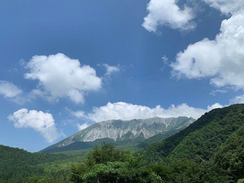 大山屈指の絶景スポット、鍵掛峠