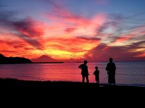 絶景の海と夕焼け