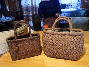 ヤマブドウの蔓がこんな素敵なバッグに! ~編み組細工の魅力
