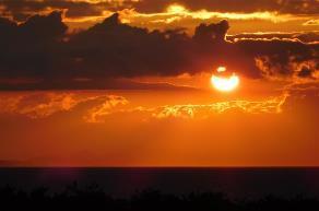 伊良湖の秋は夕日がきれい!
