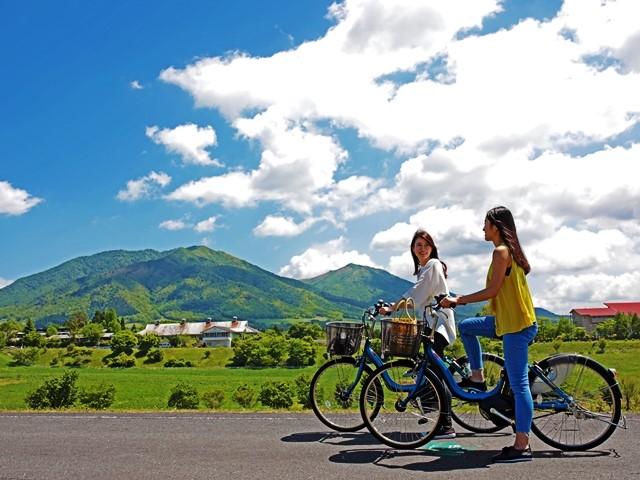 蒜山高原で颯爽サイクリング!